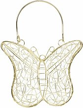 Normandy Wire Mesh Butterfly Decorative Basket
