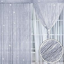 Norme 2 Pieces Glitter String Curtain Panels