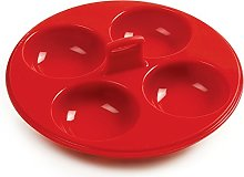 Norpro 9900 Silicone 4 Egg Poacher, Red by Norpro