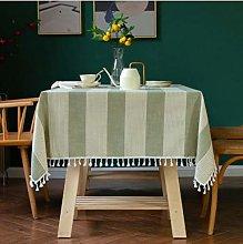 North European Plain Stripe Tablecloth Cotton and