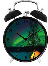 Northern Lights, Camping Tent Under Magnetic Field