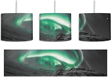 Northern Lights Over Iceland 1-Light Drum Pendant