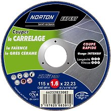 Norton Cutting Disc for Tiles 115 x 1.6 x 22.2