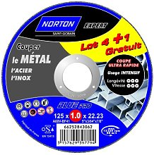 Norton Cutting Discs for Metal 125 x 1 x 22.2 mm