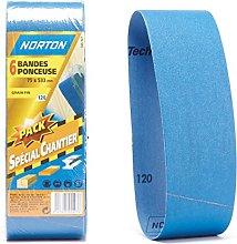 Norton Set of 6Bands 75x 533mm Grit 120