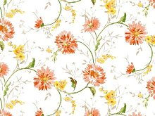NORTUFTING Oval Tablecloth tcaquarelleorange