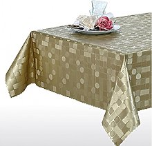 NORTUFTING Oval Tablecloth tcgeometrixgold 1.40 x