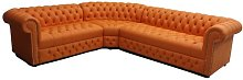 Norvin Chesterfield Leather Corner Sofa Marlow