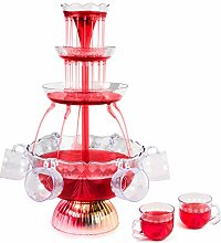 NOSTALGIA Party Fountain, Holds 1.5 Gallons, LED