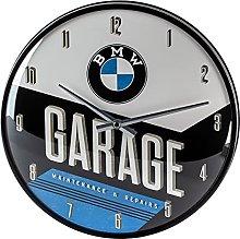 Nostalgic-Art 51077 BMW -Garage, Wall Clock 31cm