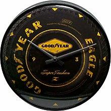Nostalgic-Art 51085 Goodyear Wheel, Wall Clock 31cm