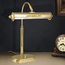 Nostalgic table lamp Picture, gold-plated