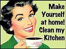 not Clean My Kitchen Joke Retro wall decor Metal