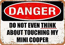 not Don't Touch My Mini Cooper Retro Metal Tin