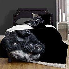 not Duvet Cover Set-Bedding,Silver Animal Gorilla