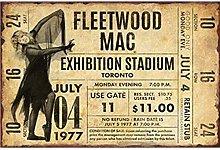 not Fleetwood Mac Exhibition Stadium Retro Metal