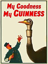 not My Goodness My Guinness Retro Metal Tin Sign