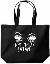 Not Today Satan Tote Shopping Gym Beach Bag 39 x
