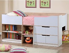 Nottingham Children Cabin Bed In White And Oak