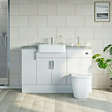 Nouvel gloss white small fitted furniture