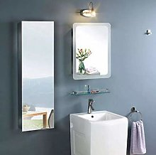 NOVA Tall Narrow Mirror Bathroom Cabinet -