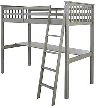 Novara High Sleeper with Desk - Grey, Grey