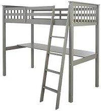 Novara High Sleeper With Desk - Grey
