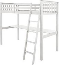 Novara High Sleeper With Desk - White - Bed Frame