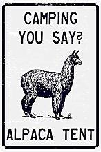 NOVCO Camping You Say? Alpaca Tent Sarcastic Pun