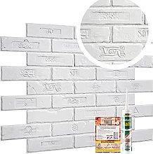 Novecrafto Premium Rustic Retro White Brick PVC