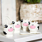 Novelty BPA Free Plastic Cow Egg Cup with Spoon