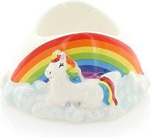 Novelty Ceramic Rainbow Unicorn Egg Cup
