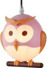 Novelty Childrens Owl Pendant In Pink