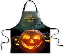Novelty Full Moon Halloween Apron Witch Flying on