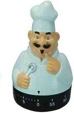 Novelty Kitchen Timer - Chef - Black