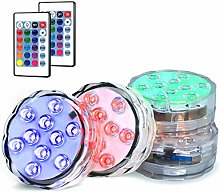 Novelty Place 4x Multicolor Submersible Led Light,