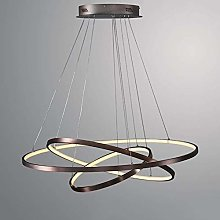 Novely Chandeliers- Led Round Pendant Light Brown