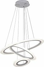 Novely Chandeliers- White Round Chandelier 2 Ring