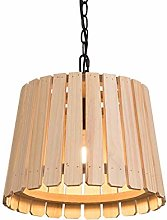 Novely Chandeliers- Wood Pendant Lamp Single Flame