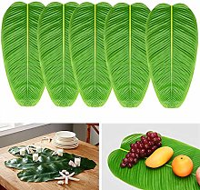 Noverlife 5PCS Large Artificial Banana Leaves,