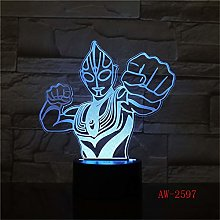 Novetly Table Lamp Ultraman Altman 3D RGB Table