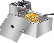 Novhome Deep Fat Fryer, 6L Stainless Steel