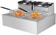 Novhome Deep Fat Fryer, 6L Stainless Steel