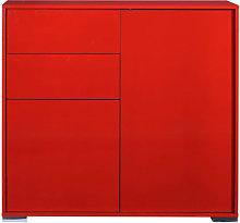 Novi Shiny Red Finish 2 Door Sideboard With 2