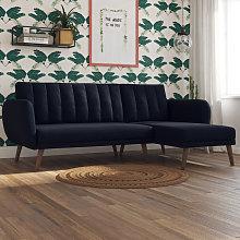Novogratz Brittany Sectional Sofa Bed Left or