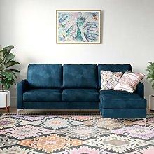 Novogratz Chapman Velvet Sectional Sofa With