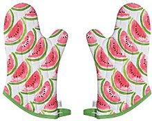 Now Designs Basic Oven Mitt (Set of 2), Watermelon