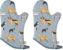 Now Designs Basic Oven, Set of Two, Dog Days Mitt,