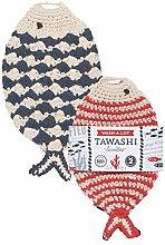 Now Designs Tawashi Dishcloth Scrubbers, Little Fish