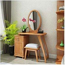 noyydh Dressing Table Bedroom Solid Wood Vanity